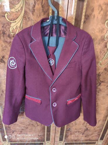 где купить ткань для мебели в Кыргызстан: Школьный костюм. Рост 134. В очень хорошем состоянии. Куплен за 2 800