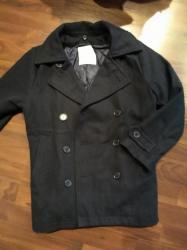 Dečije jakne i kaputi | Ruma: Zara kaput za dečaka. Veličina 7-8. Kaput je teget boje i bez oštećenj