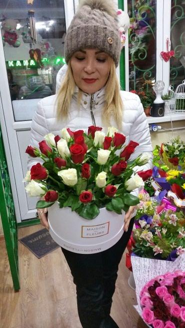 Цветы -доставка !!!Розы корзины в Бишкек