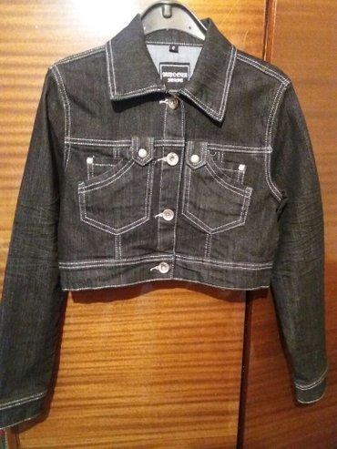 Novo siva teksas jaknica sa srebrnim stepovima... Velicina s/m ima - Vrnjacka Banja
