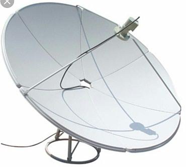 Спутниковая тарелка в хорошем состоянии, три пушки, диаметр - 1,8м в Бишкек