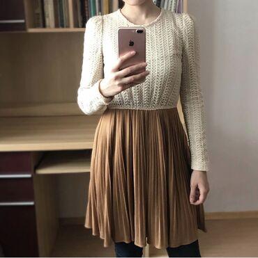 Тёплое платье на осень, весну, можно и зимой носить. Размер S. Произ