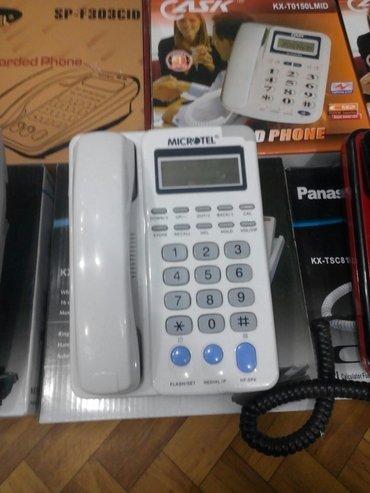 """Bakı şəhərində Ev telefonu """"microtel"""" nomre yazan,teze,catdirma var"""