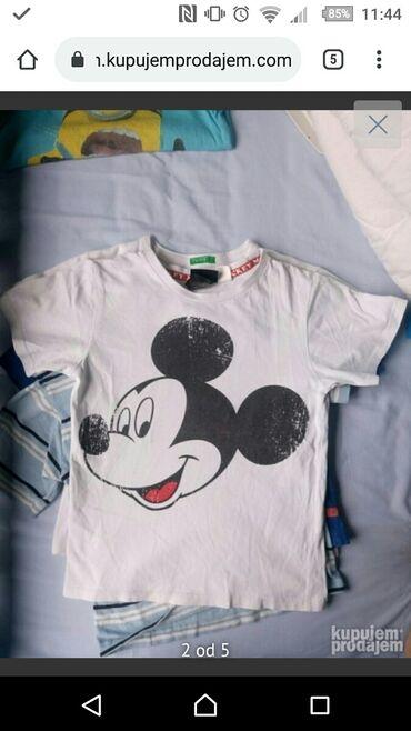 Cetiri majice - Srbija: Majice 4 kom. 110-116 vel.130 din za sve cetiri majicePrva je disney