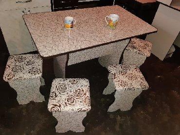 стол на кухню раскладной в Кыргызстан: Стол для кухня 3000сом Есть кухонный шкаф 75см 5000 Стол 6шт