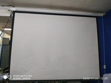ТВ и видео - Кыргызстан: Полотно для проектора подвесные размер 2м на 1,5 . 3 м -на 2,40. На