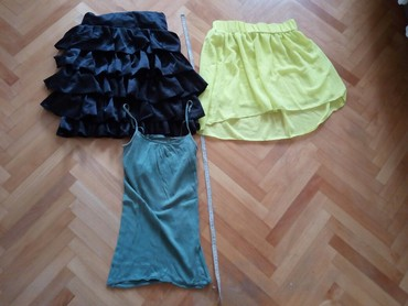 Zuta suknja L i poklon crna suknja: - Nis