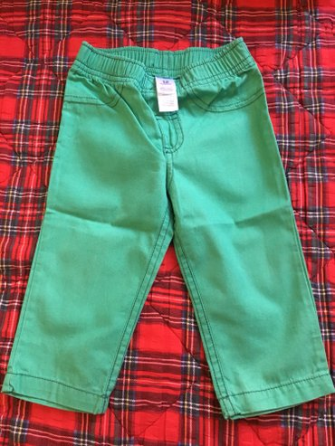 Nove zelene Carter's pantalonice,pamucne.Velicina za 12 meseci. - Kragujevac