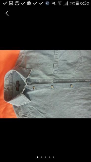 Токмок. мужская джинсовая рубашка. в Токмак