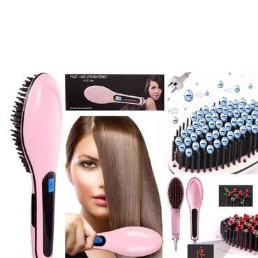Presa za kosu - Srbija: 1500dinČetka za ravnanje kose pegla za kosu HAIR STRAIGHTENER HQT-906