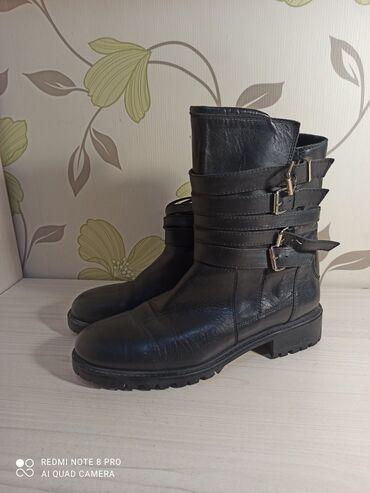Ботинки Зара (Zara), 41 размер, на 40 и 40,5 отлично подойдут. Натура
