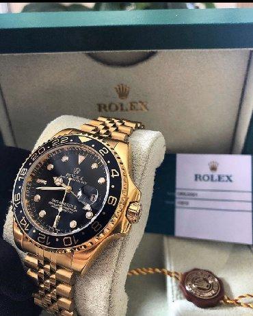 Qızılı Kişi Qol saatları Rolex