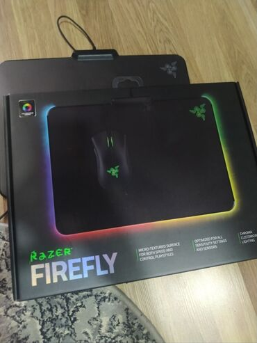 Продаю или меняю! Коврик с RGB подсветкой. Razer firefly. В отличном
