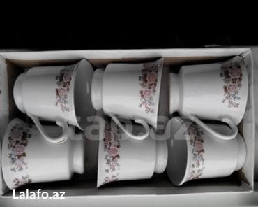 Чашки для чая 6 шт,новые керамика. в Bakı