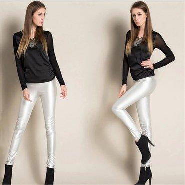 Nove helanke deblje srebrne pantalone odgovaraju velicini m-l - Belgrade