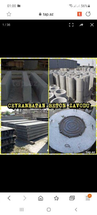 582 elan | XIDMƏTLƏR: Bizim zavodda beton panel,pilte,kanalizasiya kolcalari,bardyurlar,blok