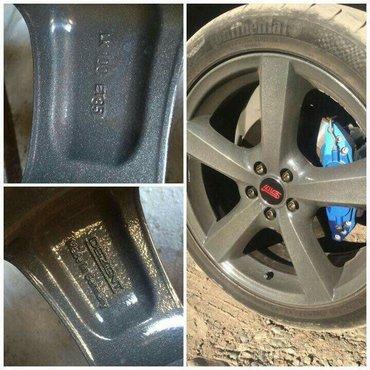 Срочно Продаю диски Dezent F R18/7,5jj ET35,  5*100 с резиной 225/45/1 в Бишкек