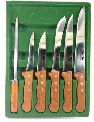 Noževi | Srbija: Set kuhinjskih nozeva od 6 dela. U kompletu pet nozeva i ostrac