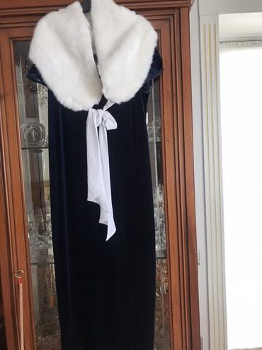 платье бархатное в Кыргызстан: Шикарное бархатное платье Италия с Накидкой! Размер L, можно на М длин