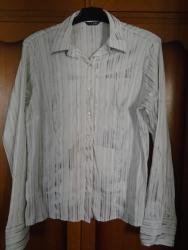 Košulja sa srebrnastim prugicama, vrlo tegljiva, nošena. Veličina - Belgrade