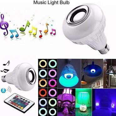 Muzika - Srbija: 1600 dinLED Bluetooth Muzička Sijalica-Zvučnik sa daljinskim RGB LED