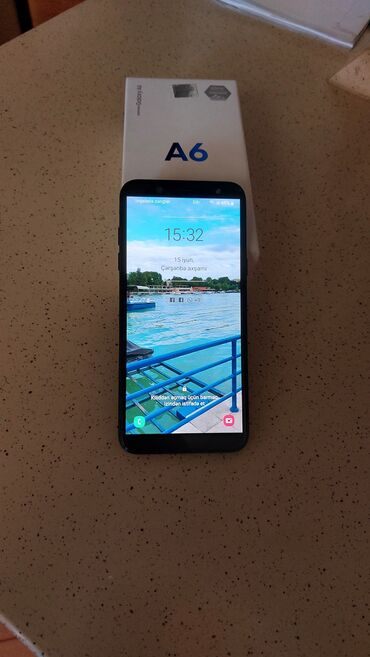Samsung Galaxy A6   32 GB   qara   Sensor, Barmaq izi, İki sim kartlı