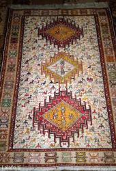Ковры в Таджикистан: Эксклюзивный азербайджанский ковер ручной работы в стиле борчалы разме