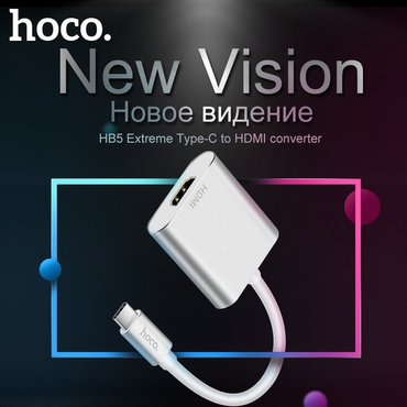 Original Hoco type c hdmi konverter perexadnik oturucu. macbook ve в Баку