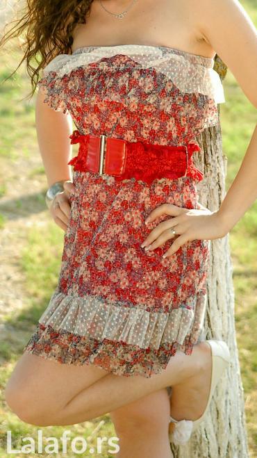 Preslatka haljinica,sa pojasem,jednom nosena,ocuvana - Indija
