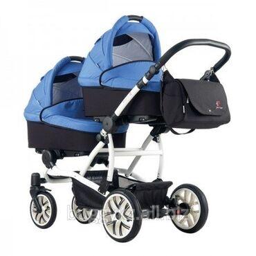 Коляски - Лебединовка: Детская коляска для двойни 2 в 1 Bebetto 42 «зима — лето» Производство