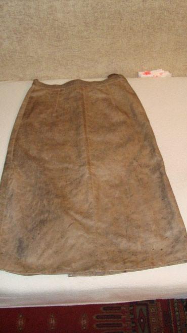 Kozna suknja -ocuvana,meka koza prijatna za nosenje,broj orjetaciono - Belgrade