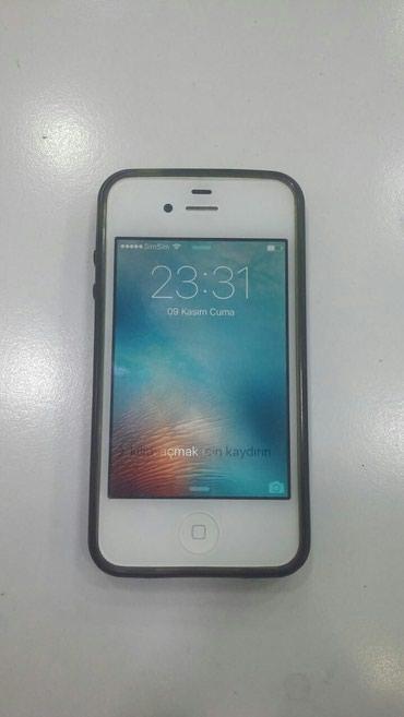 Xırdalan şəhərində I PHONE 4S 16 gb yaddaş ağ rəng. ayklod adımadı