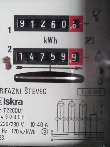 Monofazno dvotarifno brojilo ispravno menjano elektrovojvidina stavila