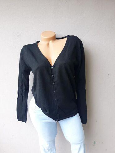 Košulje i bluze | Prokuplje: Crna bluza na kopčanje bez oštećenja Velicina L