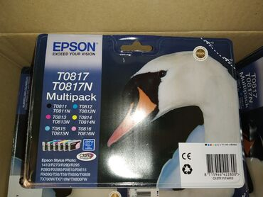 оригинальные расходные материалы oki pla пластик в Кыргызстан: Набор оригинальных картриджей (6 цветов ) Epson T0817Нaбоp кaртриджей