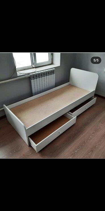 Кровать с полками для подростков по супер цене - 6800 сом. 1 м. 80 см