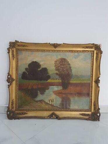 Slike na platnu - Srbija: Odlicna slika u lux ramu dimenzije68 cm78cm SLIKA JE ULJE NA