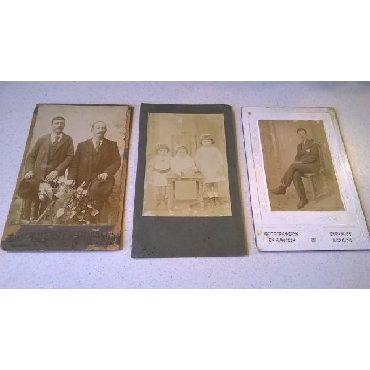 3 Χοντροχάρτονες Φωτογραφίες.Διαστάσεις από αριστερά: 17 x 11 εκατ.