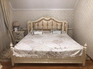 Шикарный спальный гарнитур. Кровать,комод,трюмо,2 тумбы и шкаф!