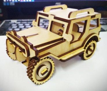 Деревяная машина . Хорошо развивает в Бишкек