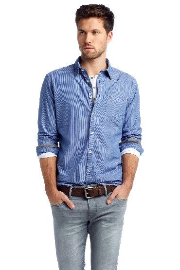 ESPRIT plava košulja na pruge, veličina XXL - NOVOESPRIT plava košulja