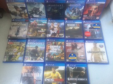 Игры на ps4! Overwatch - 3700 destiny 2 - 4300 injustice 2 - 3700 hori в Бишкек