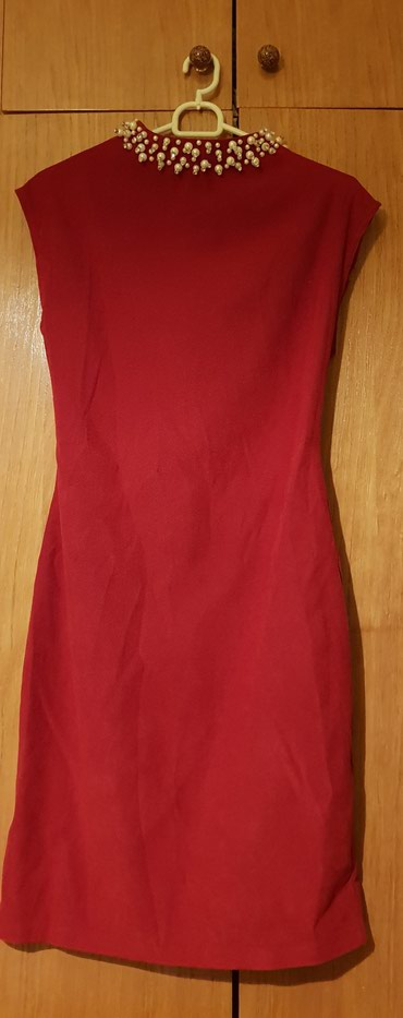Prelepa bordo haljina,strukirana,elegantna,vel.38,do kolena,jednom - Krusevac