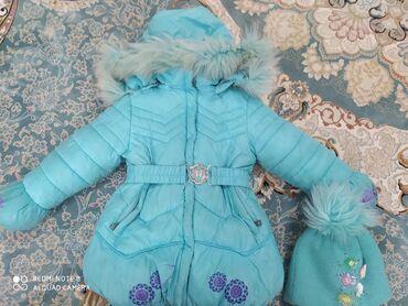 Детская курткаНа зимний сезонСостояние отличноеВместе с шапкой 500