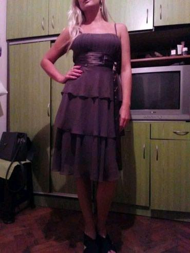 Haljina-orsay-p - Srbija: Orsay svecana haljina,kao nova. Viseslojni til,pojas saten,boja hladna