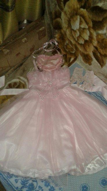 Детское платье +сумочка+перчатки на 6-7 лет в Кок-Ой