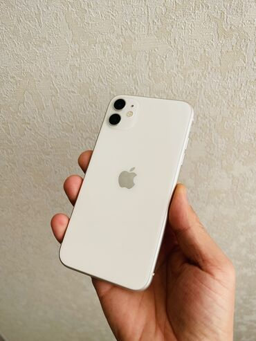 айфон 11 цена в оше in Кыргызстан | APPLE IPHONE: IPhone 11 | 128 ГБ | Белый Б/У | Беспроводная зарядка, Face ID, С документами