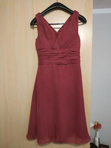 Esarpe marame - Beograd: Bordo svecana haljina sa esarpom, broj 38