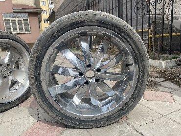 диски на хонду в Кыргызстан: Продаю диски R 20 с резиной ! Хромированные в отличном состоянии от