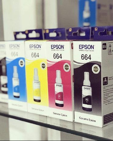 оригинальные расходные материалы klema в Кыргызстан: 664 epson чернила Оригинальные чернила Epson для 4цв принтеров